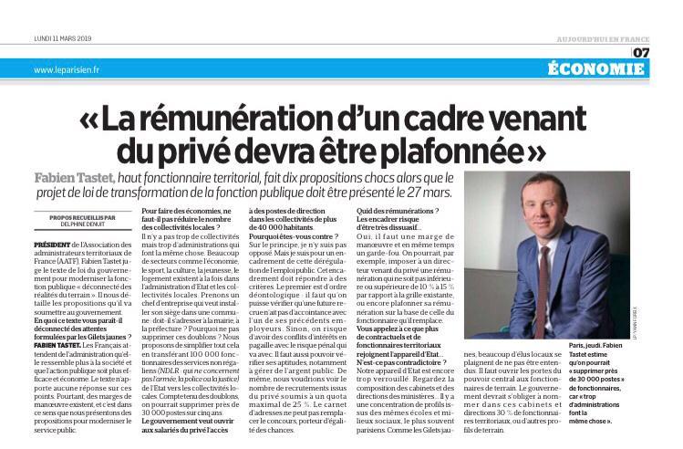 83d32426791 L AATF fait 10 propositions pour le projet de loi de transformation de la fonction  publique   explications du Président Fabien Tastet - AATF